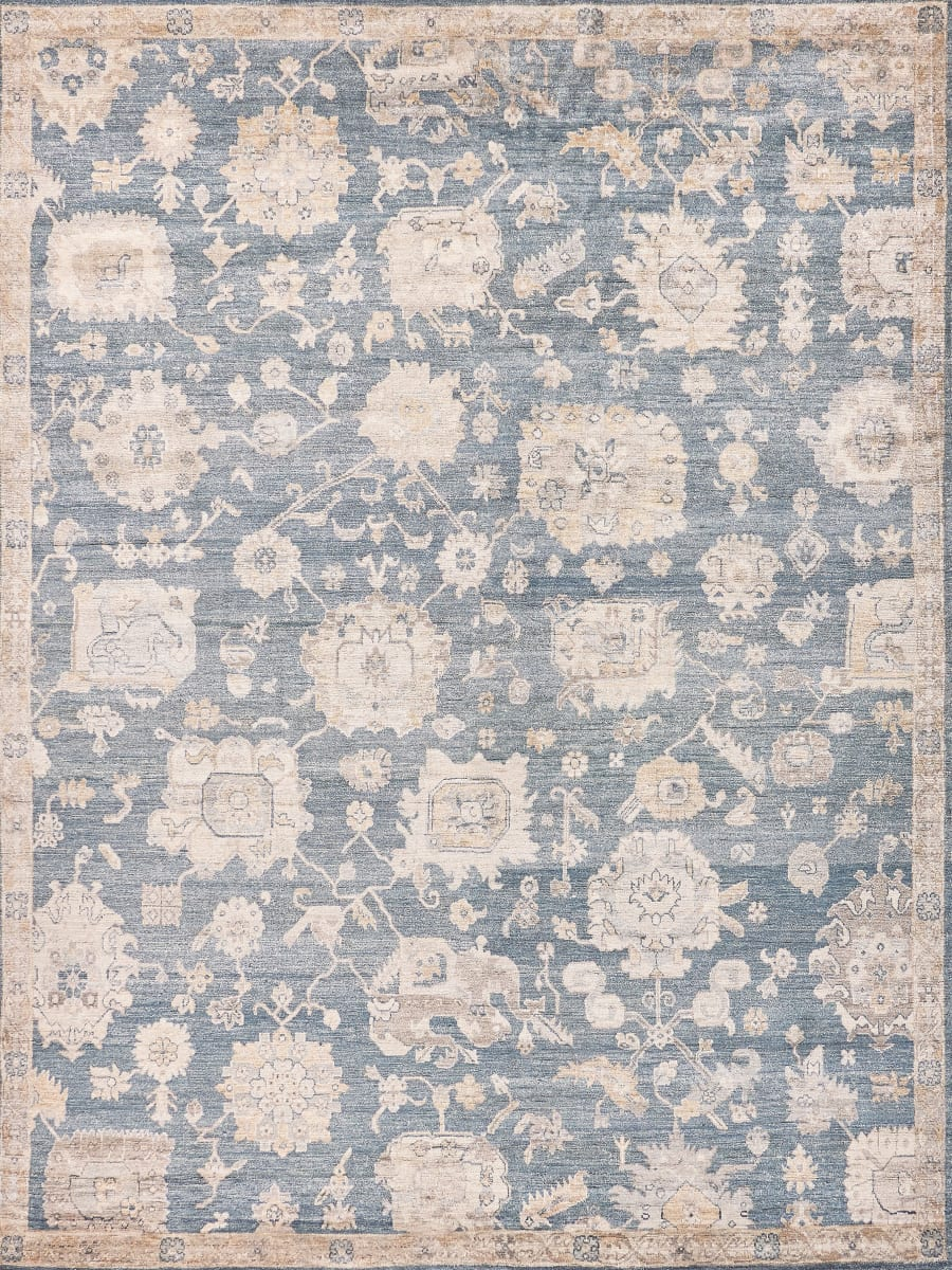 Exquisite Rugs Museum Hand Knotted Midnight Blue
