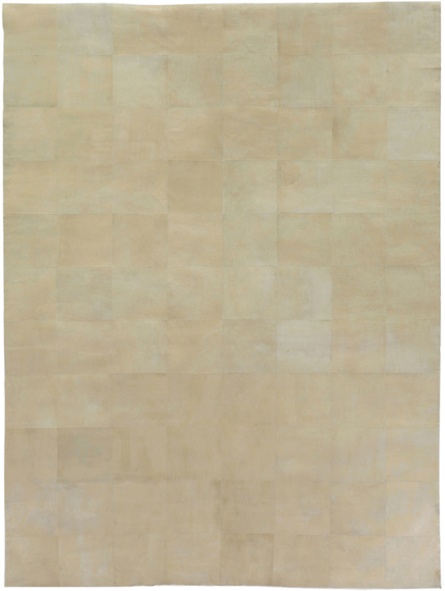 Exquisite Rugs Distressed Suede Hair on Hide Ivory