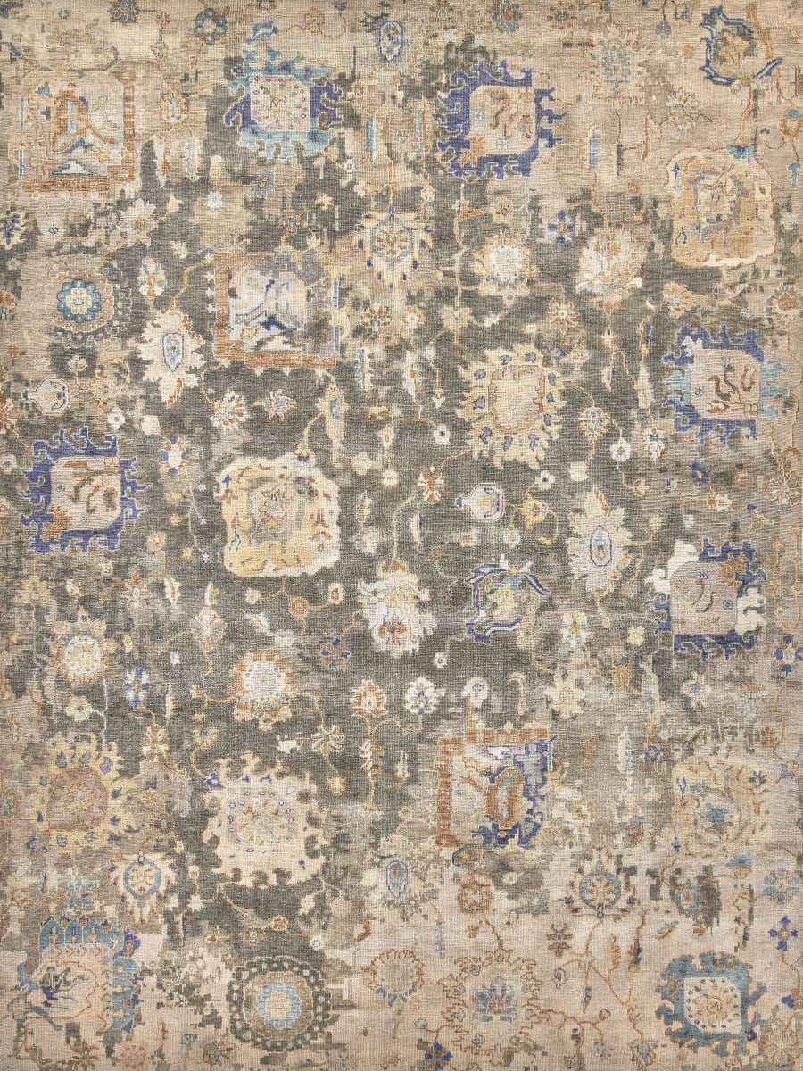 Exquisite Rugs Sussex Hand Knotted 4034 Dark Grey - Multi