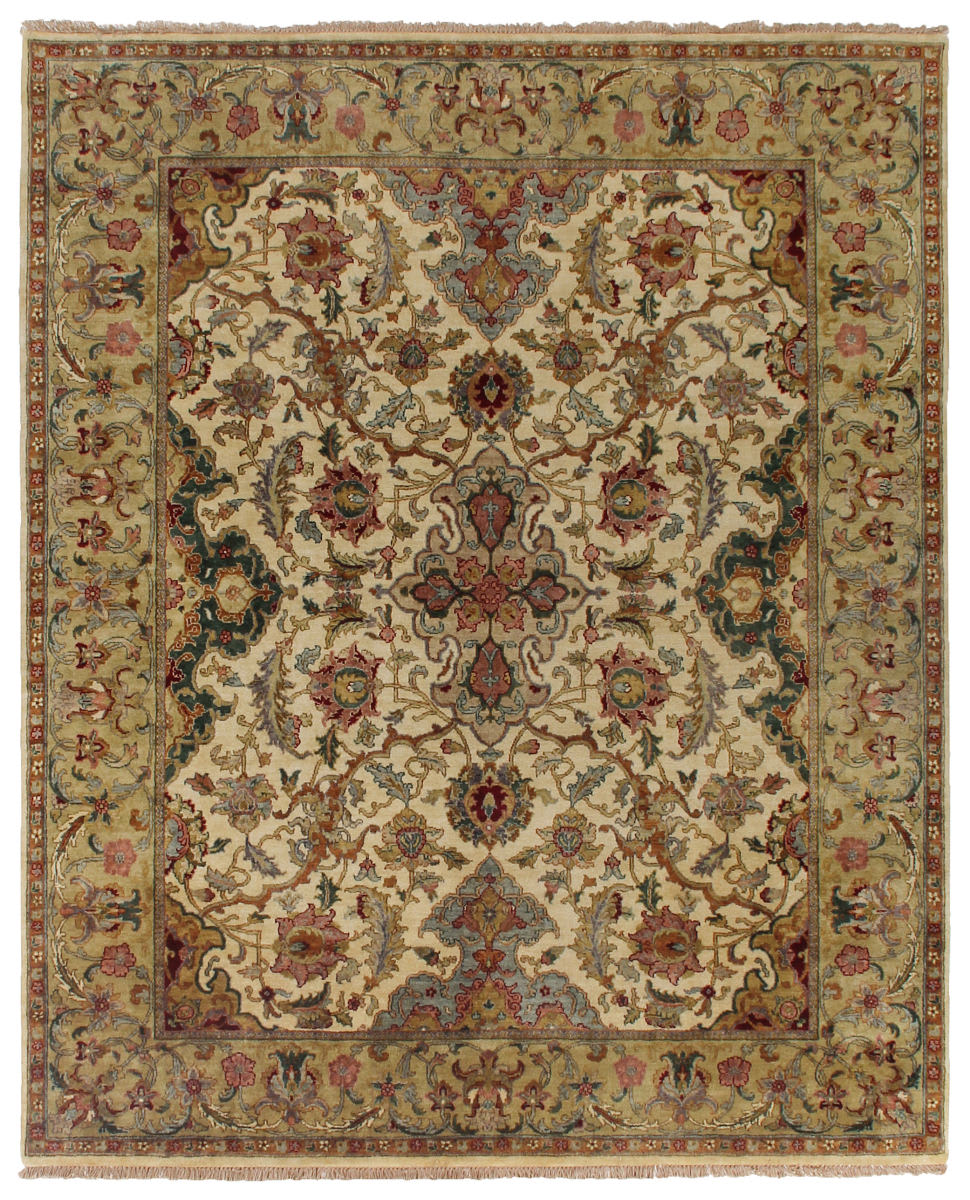 Exquisite Rugs Polonaise Hand Knotted Cream - Spruce
