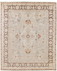 Exquisite Rugs Oushak Hand Knotted Gray - Brown 190917 Area Rug