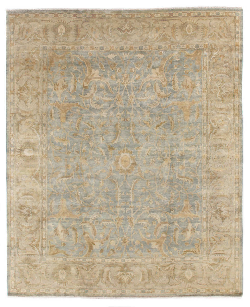 Exquisite Rugs Oushak Hand Knotted 8147 Light Green - Beige