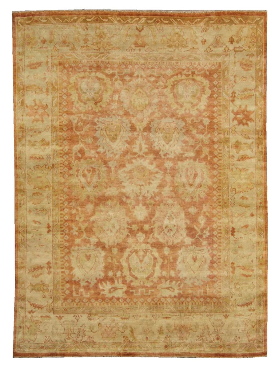 Exquisite Rugs Oushak Hand Knotted Red - Beige