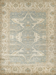 Exquisite Rugs Oushak Hand Knotted Blue - Ivory Area Rug