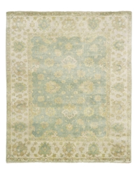 Exquisite Rugs Oushak Hand Knotted Light Blue - Ivory Area Rug