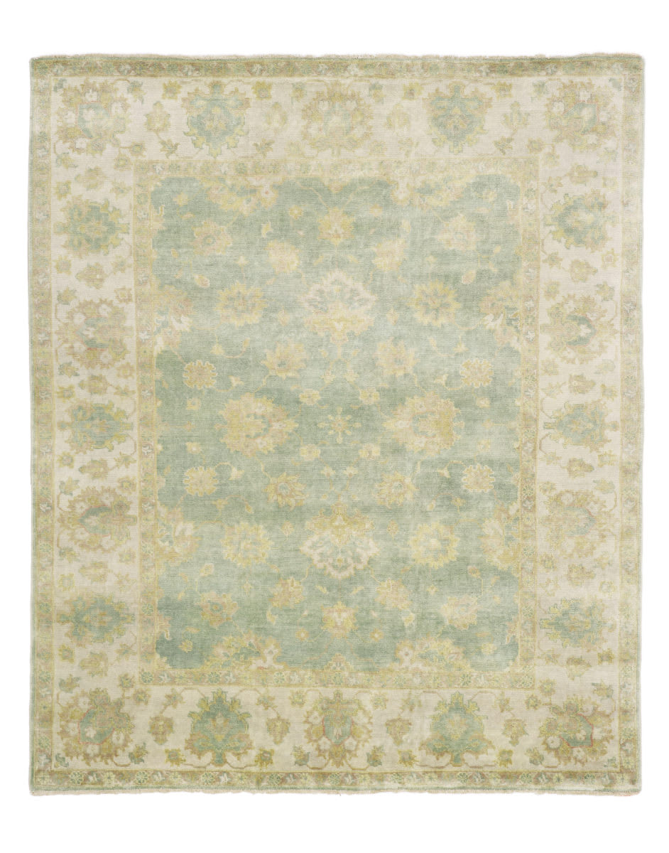 Exquisite Rugs Oushak Hand Knotted 9497 Light Blue - Ivory