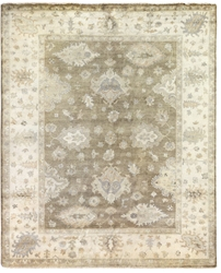 Exquisite Rugs Oushak Hand Knotted Brown - Ivory Area Rug
