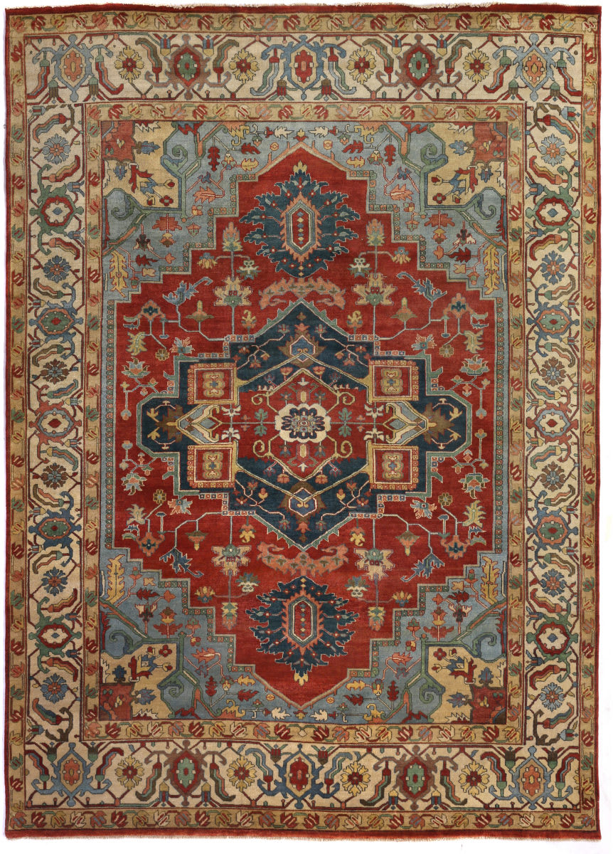 Exquisite Rugs Serapi Hand Knotted 9972 Red - Ivory