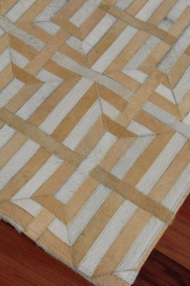 Exquisite Rugs Natural Hair on Hide Terracotta - Ivory Area Rug - 190860
