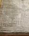 Exquisite Rugs Embossed Hand Woven 3574 Khaki Area Rug - 190652