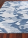 Exquisite Rugs Abstract Expressions Hand Knotted 3997 Blue Area Rug - 217054