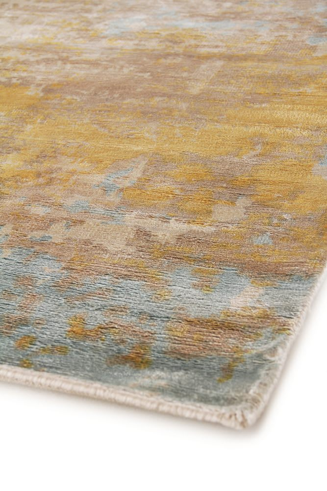 Exquisite Rugs Carrera Hand Woven Blue - Gold Area Rug - 190590