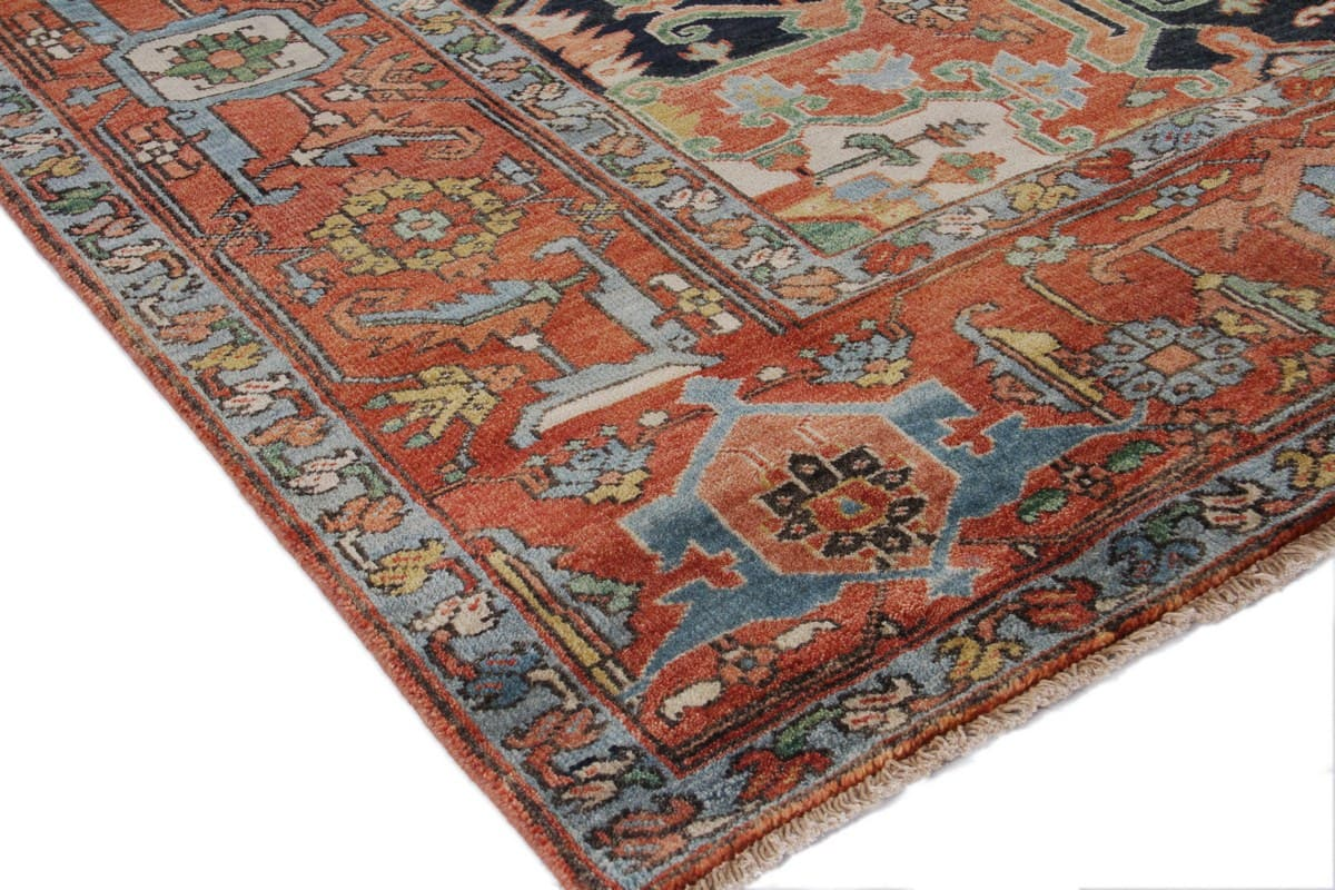 Exquisite Rugs Serapi Hand Knotted Red Area Rug - 191072