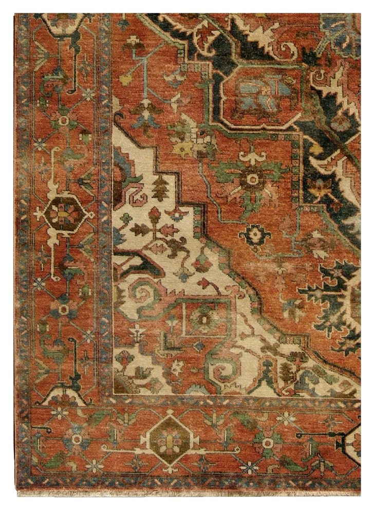 Exquisite Rugs Serapi Hand Knotted Red 191074 Area Rug - 191074