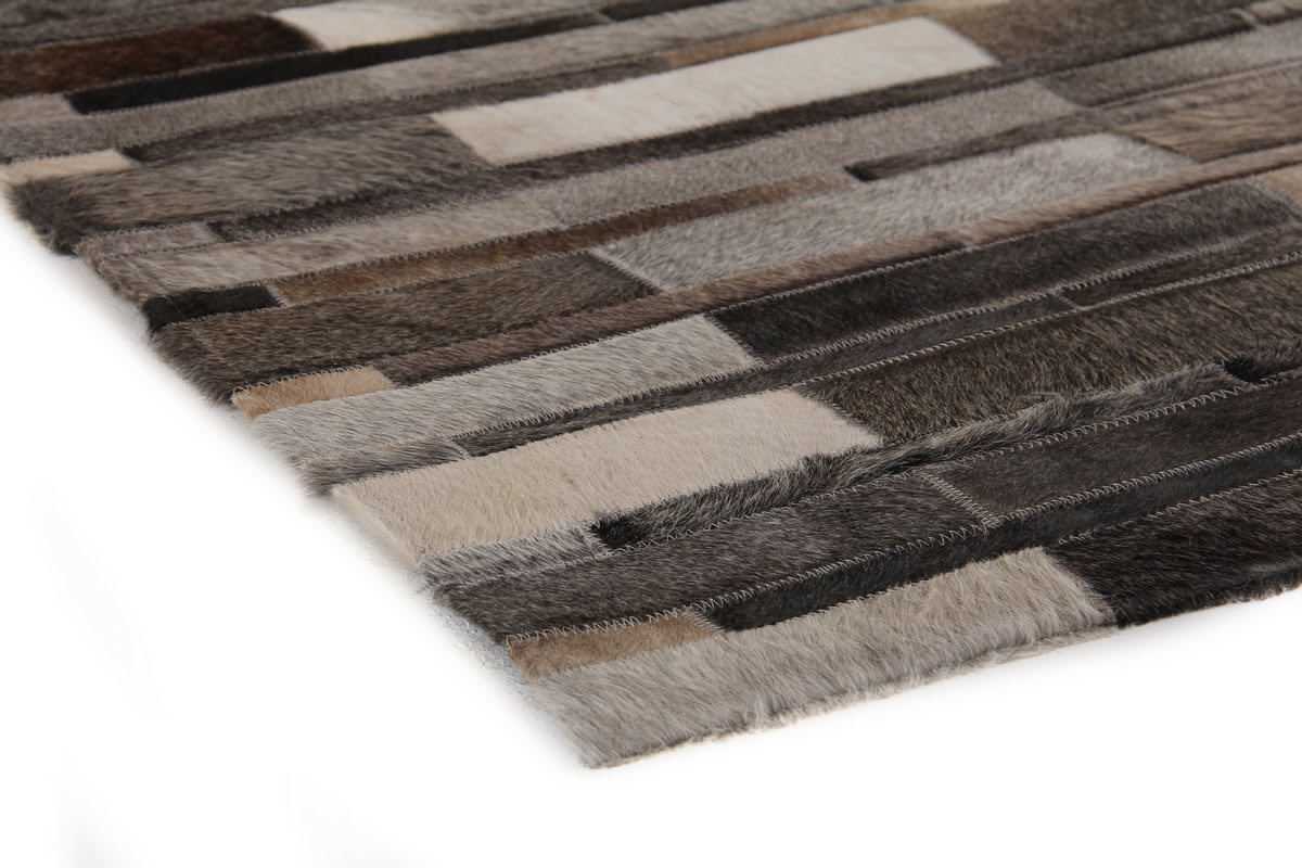 Exquisite Rugs Natural Hair on Hide Gray - Multi 190897 Area Rug - 190897