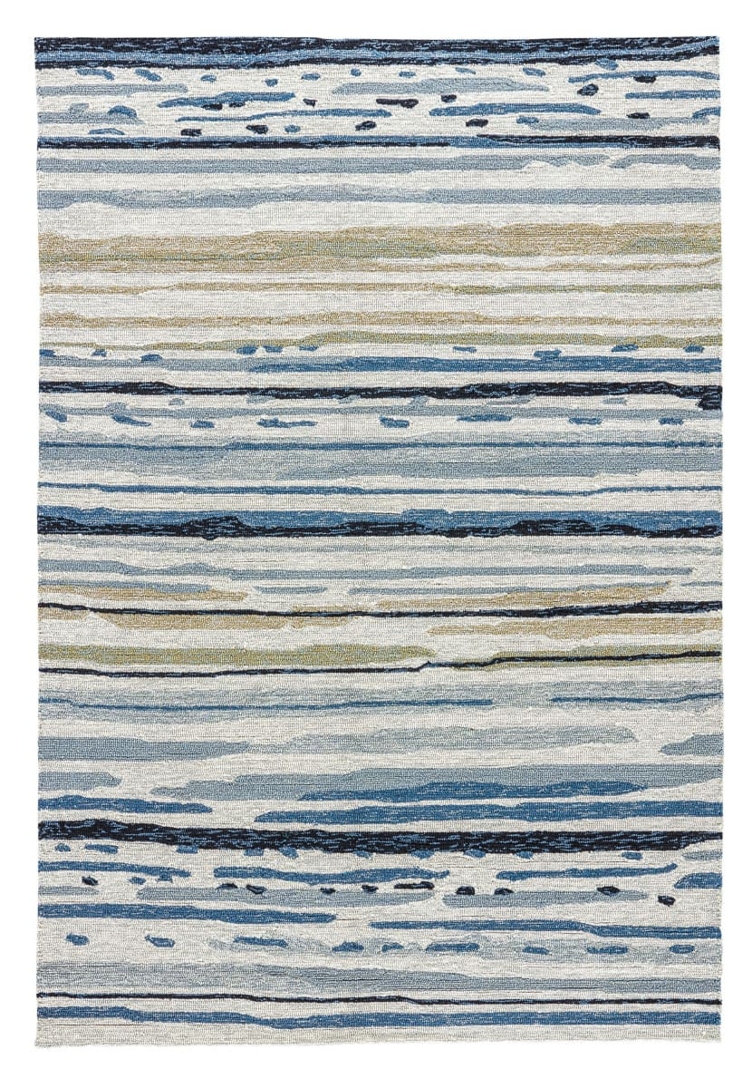 Jaipur Living Colours Sketchy Lines Co08 Silver Green - Ensign Blue Area Rug - 74853
