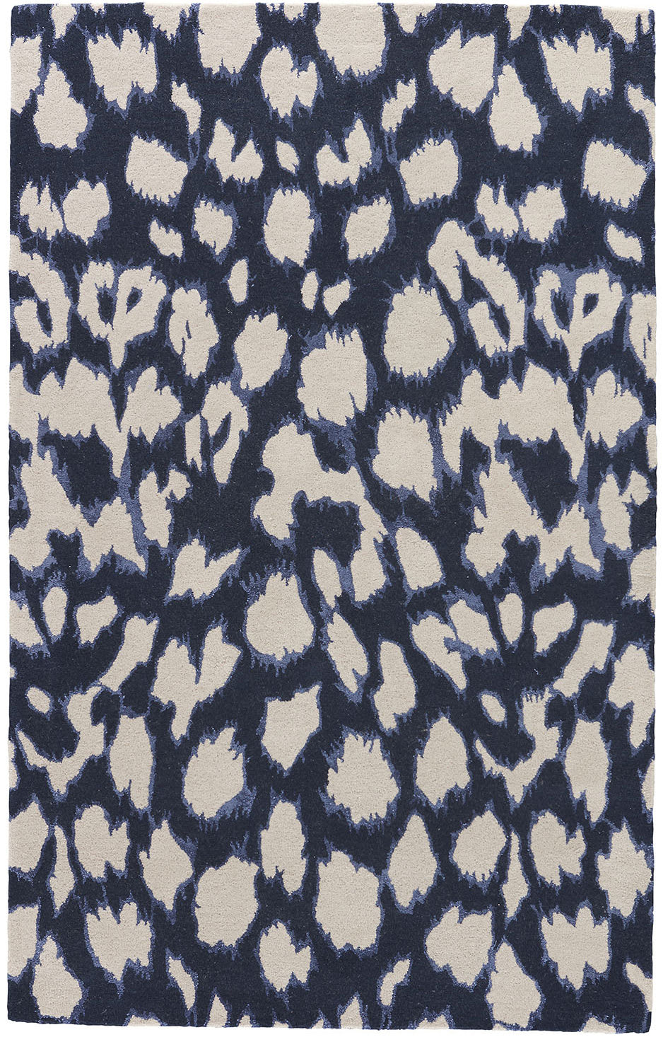 Jaipur Living Gramercy By Kate Spade New York Leopard Ikat Gkn49 Dark Navy Area Rug - 156009