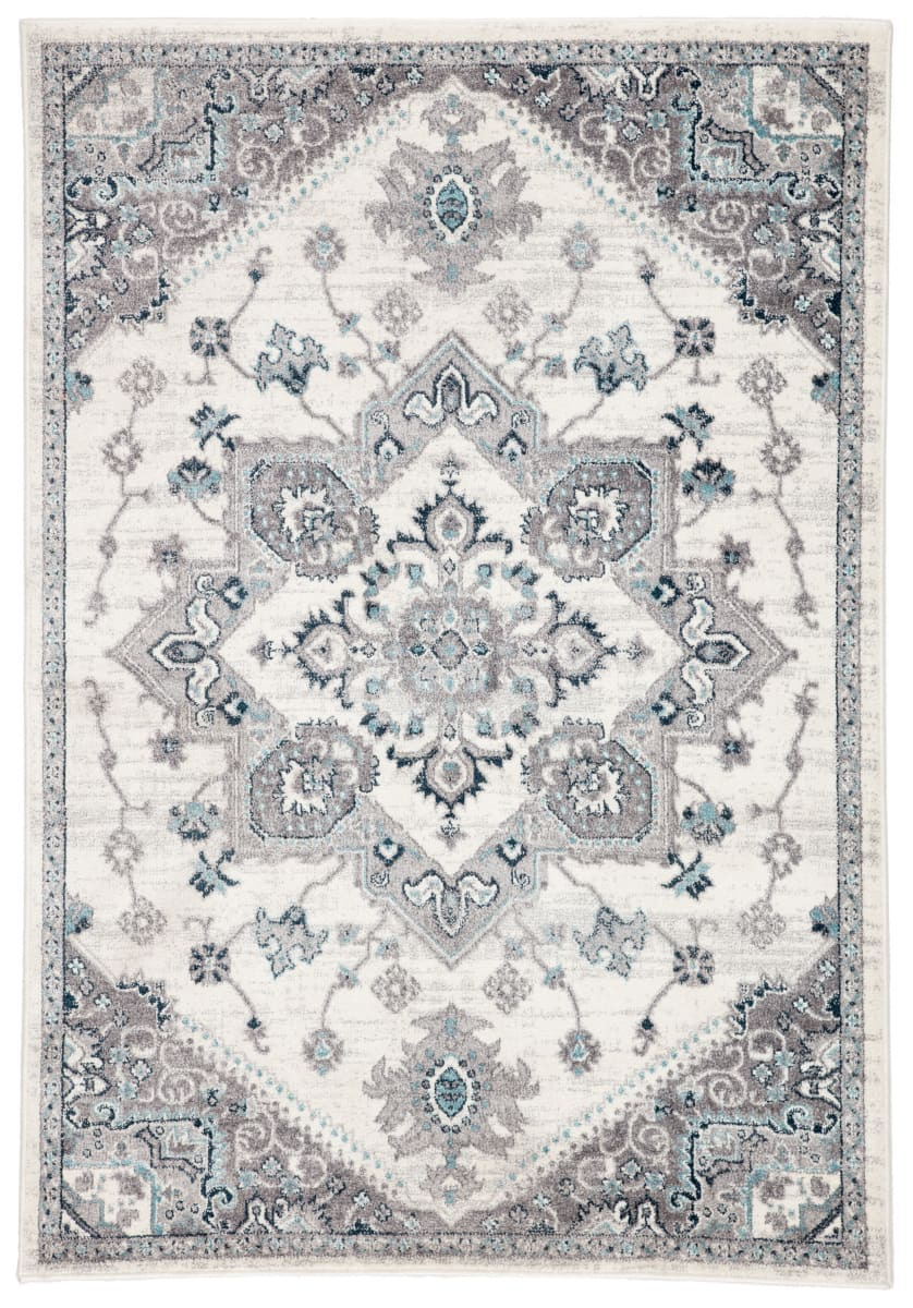 Jaipur Living Valen Lebanon Val10 White - Light Gray