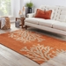 Jaipur Living Grant Design IndoorOutdoor Bough Out GD01 Apricot Orange - Tuffet Area Rug Clearance - 53376