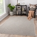 Rugstudio Sample Sale 181520R Light Gray - Black Area Rug Last Chance - 181520R