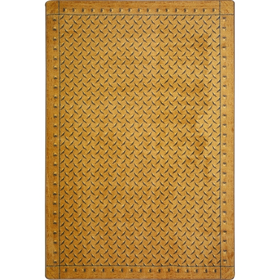 Kas Auto Sales >> Joy Carpets Kaleidoscope Diamond Plate Gold Area Rug #144150