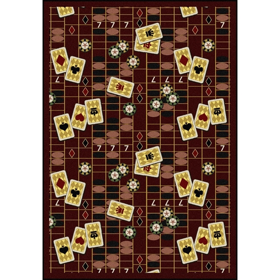 Joy Carpets Games People Play Feeling Lucky Burgundy