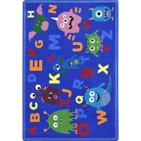 Joy Carpets Kid Essentials Monster Mash Multi Area Rug 144350