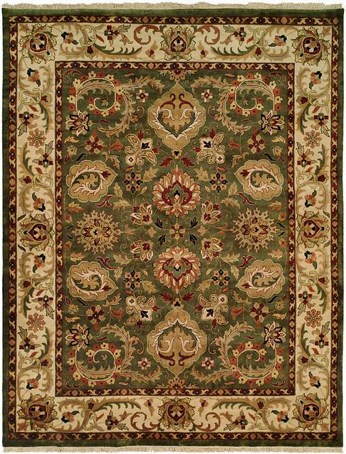 Kalaty Jaipura Jp-427 Green-Gold Area Rug Clearance