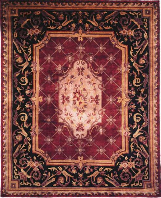 Kalaty Le Palais Ps-501 Plum-Black Area Rug Clearance