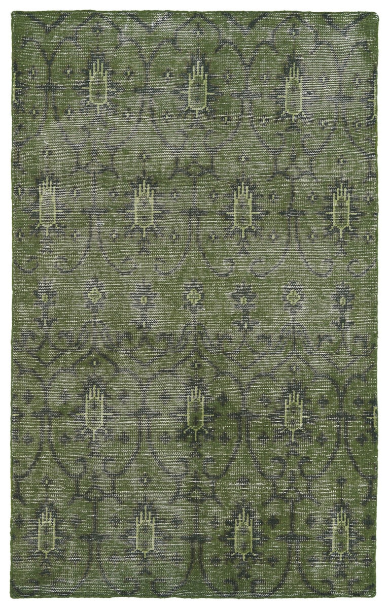 Kaleen Restoration Res01 50 Green Rug Studio