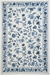 Kas Colonial Floral Ivory-Blue 1727 Area Rug - 11964