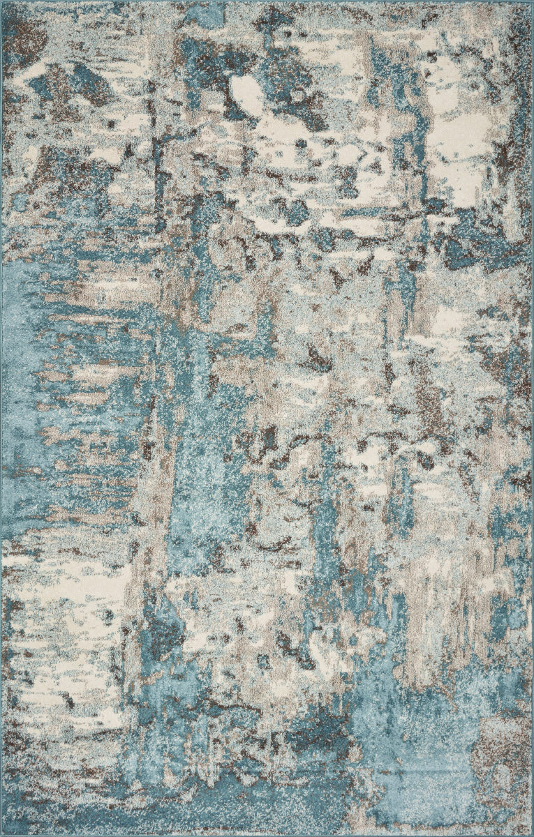 Kas Watercolors 6233 Ivory Teal Rug Studio