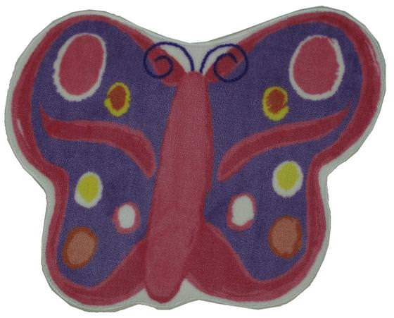 Fun Rugs Fun Time Shape Butterfly FTS-064 Multi Area Rug