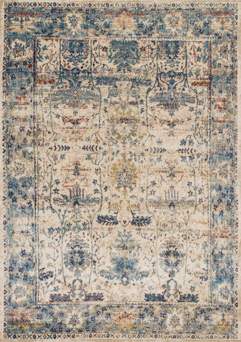 Loloi Anastasia Af-07 Sand - Light Blue Area Rug - 125627