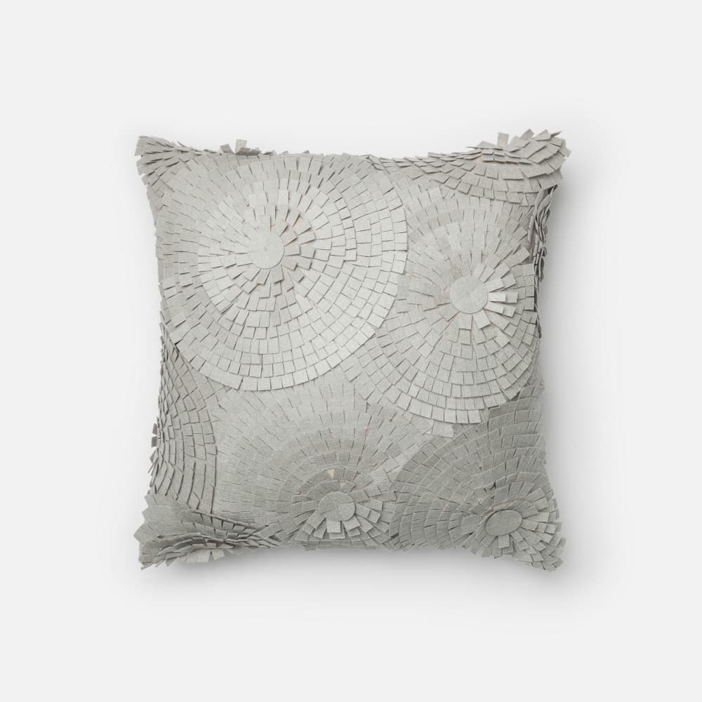 Loloi Felted Cotton Pillow P0221 Grey