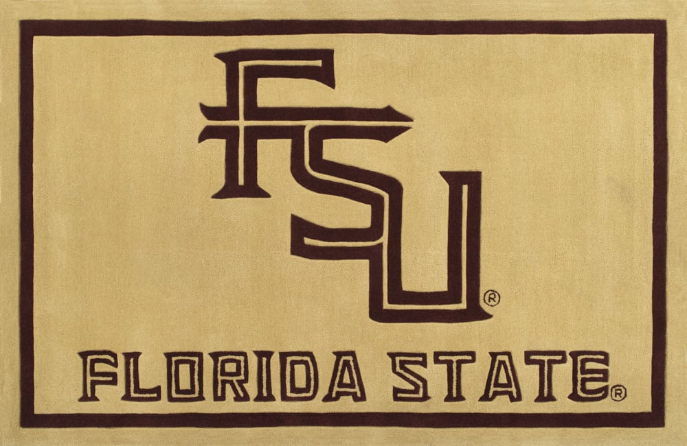 Luxury Sports Rugs Team Florida State University Gold