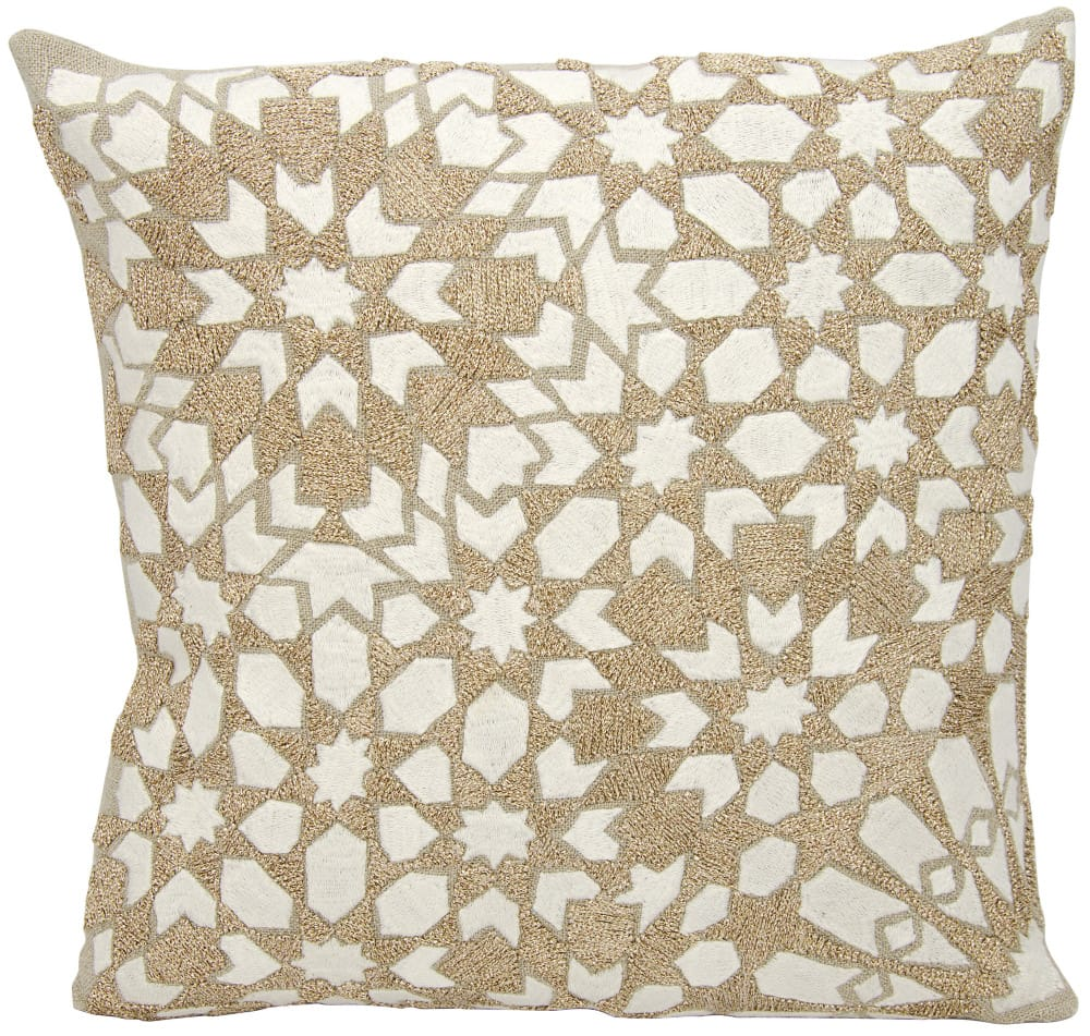 Nourison Mina Victory Pillows A0004 Ivory