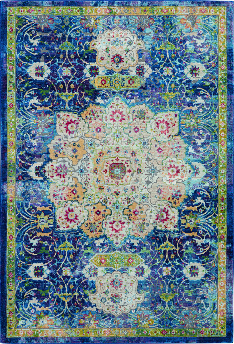 Nourison Ankara Global Anr03 Blue