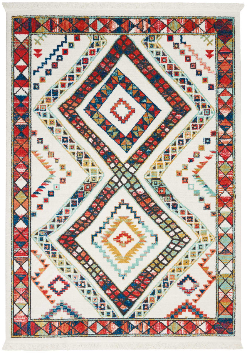 Nourison Tribal Decor Trl02 White