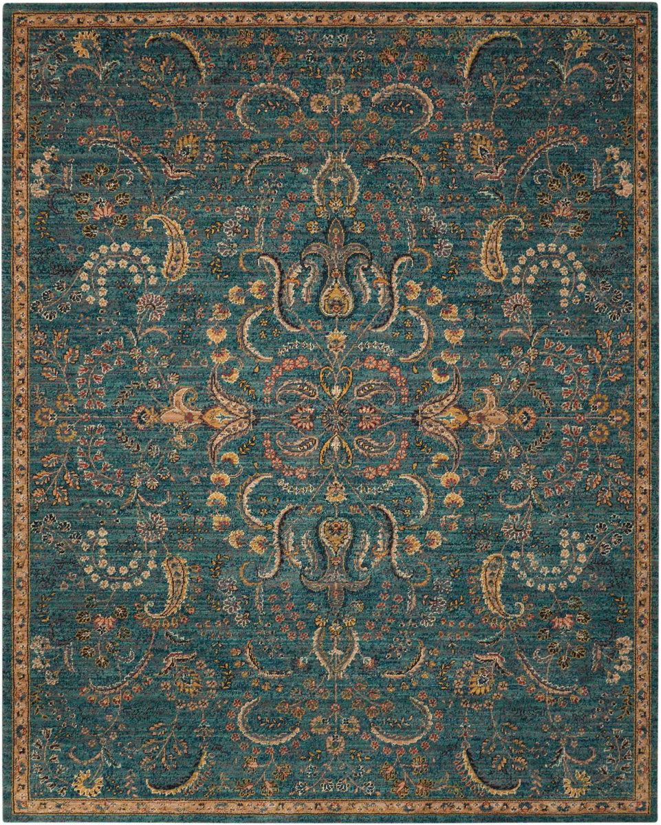 Discount 8x11 Area Rugs: Nourison 2020 Nr204 Teal 186612
