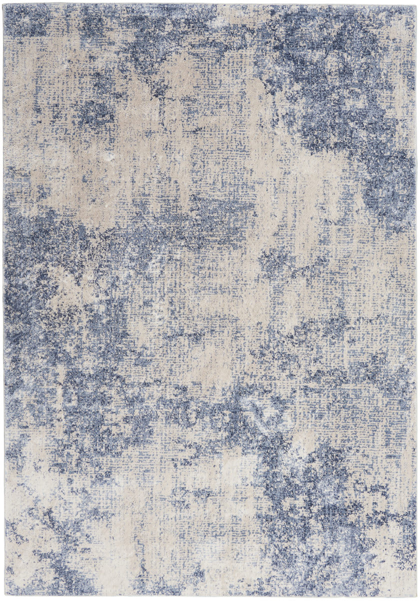 Nourison Silky Textures Sly01 Ivory - Blue