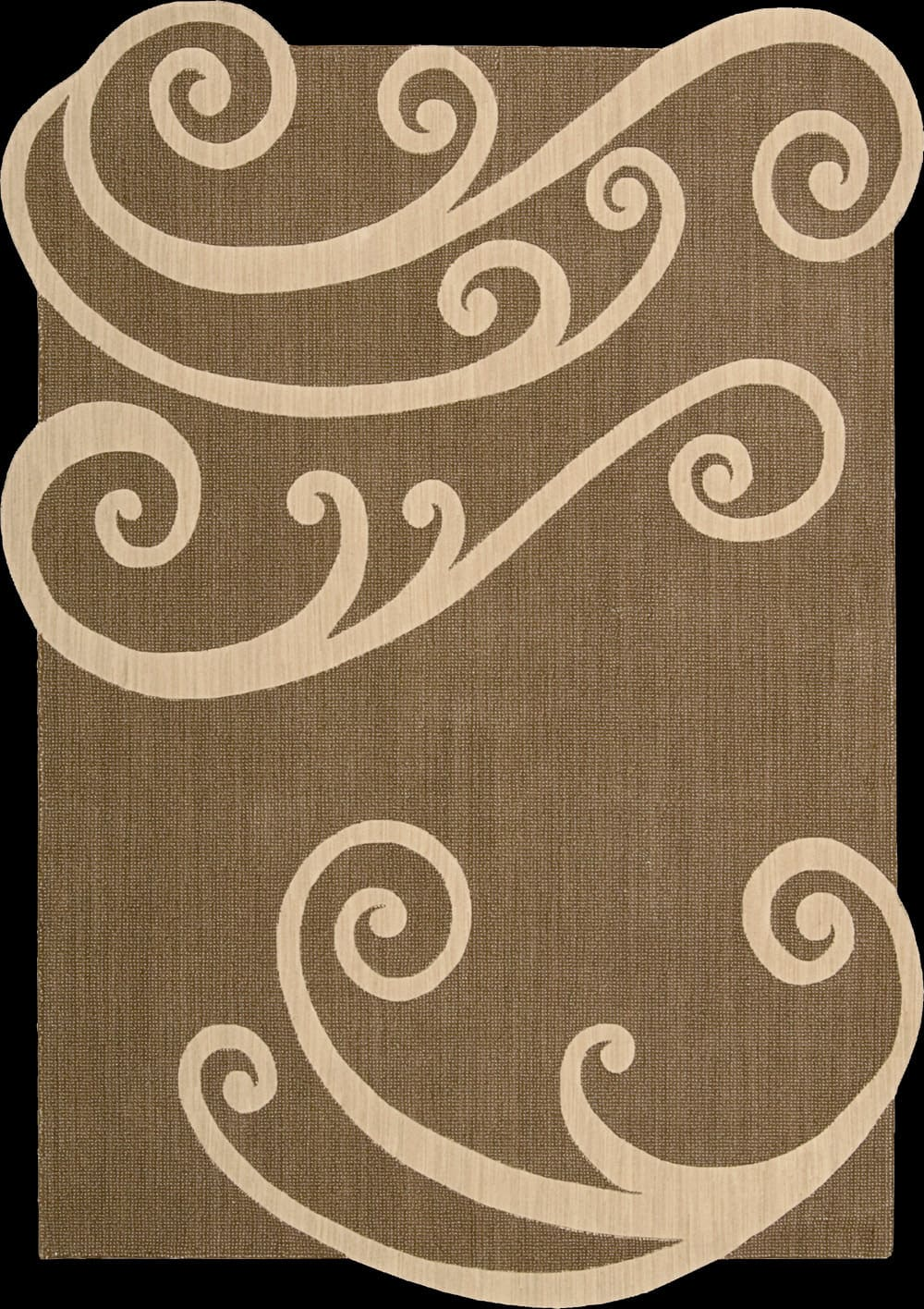 Nourison Silhouettes Sil 02 Chocolate Area Rug Clearance