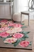 Famous Maker Hand Hooked Rose Bouquet Light Brown Area Rug - 202083