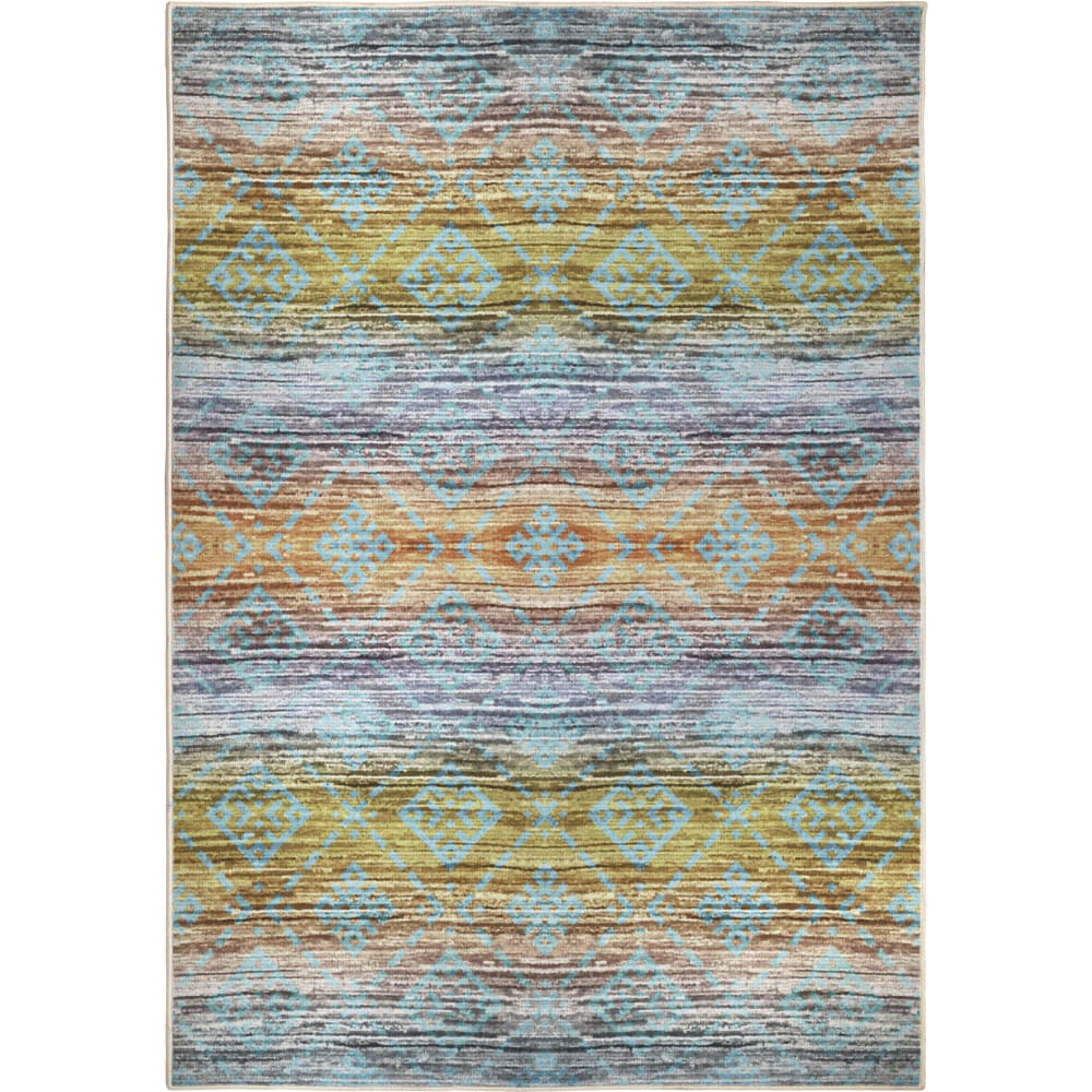 Orian Transitions Multi Colored Western Aqua