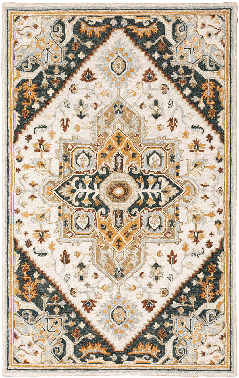 Oriental Weavers Alfresco 28407 Ivory - Charcoal