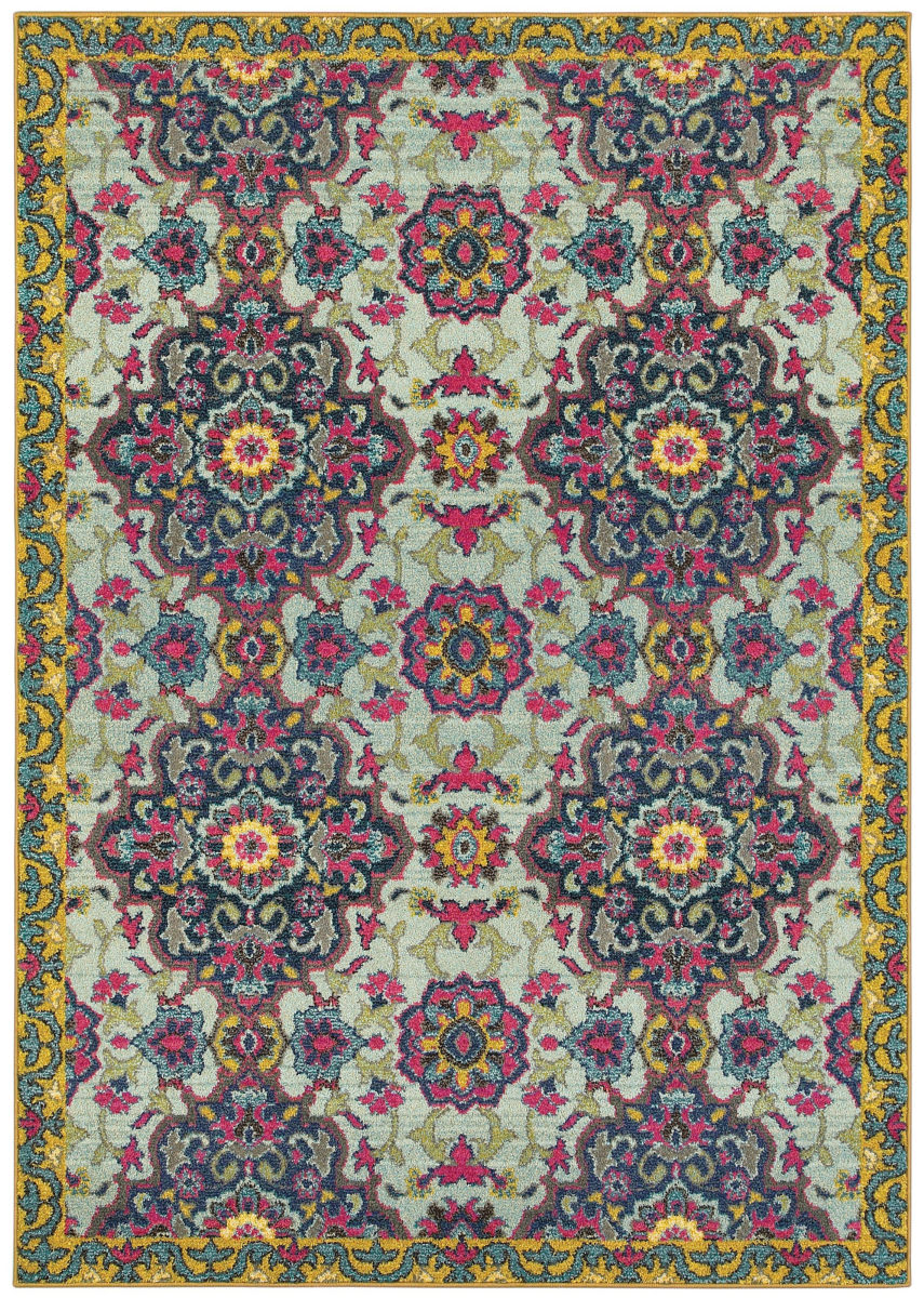 Oriental Weavers Bohemian 539e Blue - Yellow