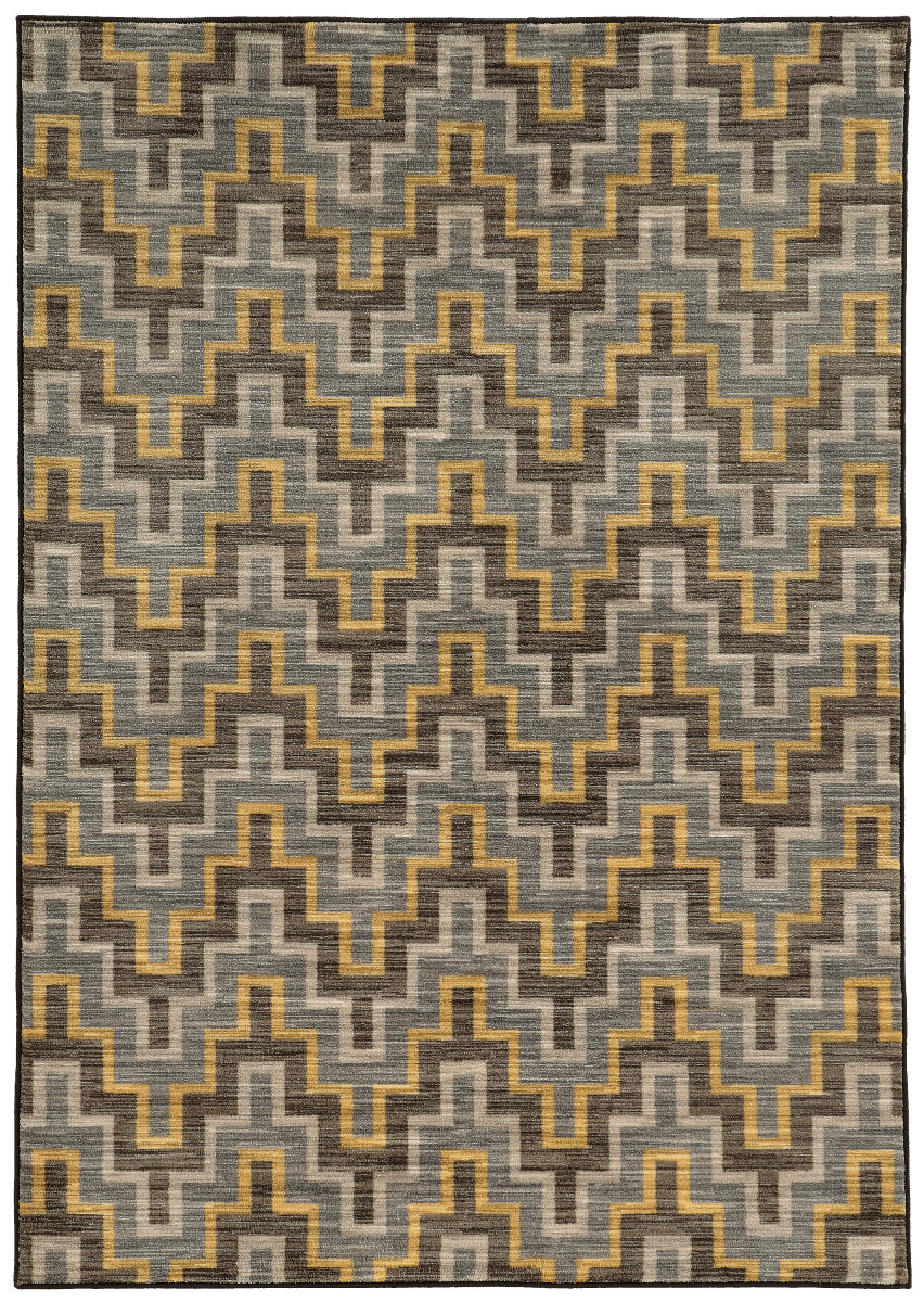 Oriental Weavers Harper 46248 Grey - Gold