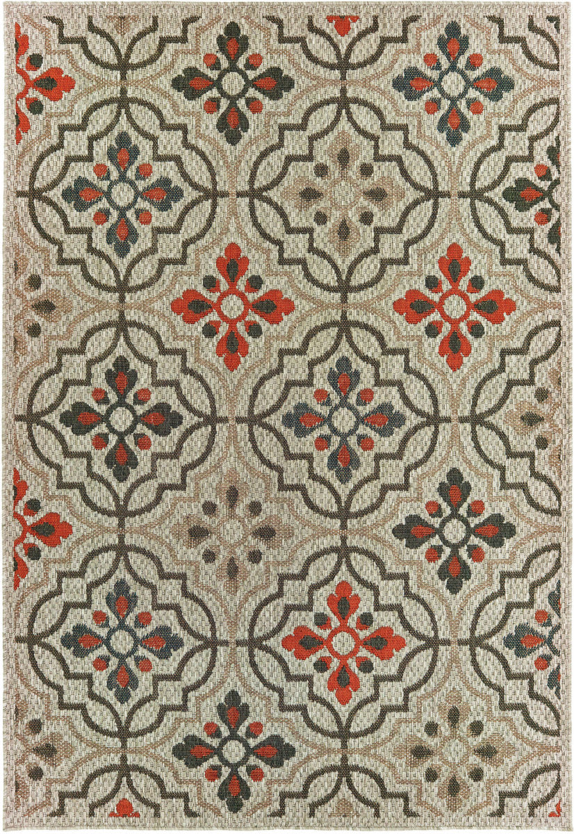 Oriental Weavers Latitude 709y3 Grey - Orange