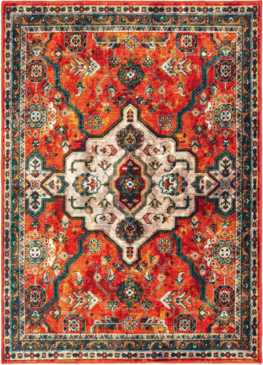 Oriental Weavers Sedona 9589a Orange - Blue