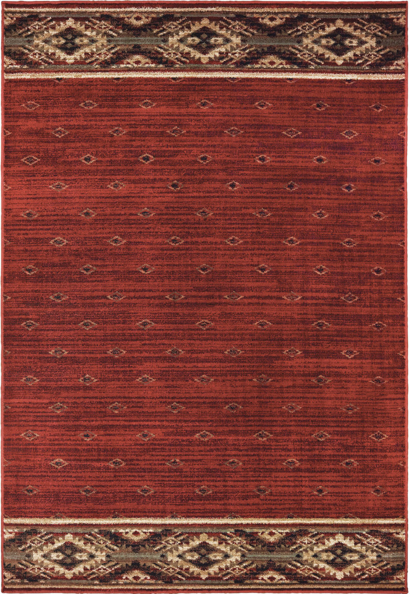 Oriental Weavers Woodlands 9652c Red - Gold